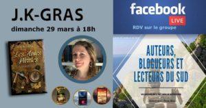 Facebook live – Johanna Gras – Auteure – 29/03/2020