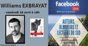 Facebook live – Williams Exbrayat – Auteur – 10/04/2020