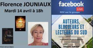 Facebook live – Florence Jouniaux – Auteure – 14/04/2020