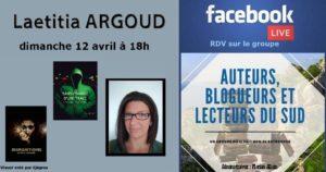 Facebook live – Laetitia Argoud – Auteure – 12/04/2020